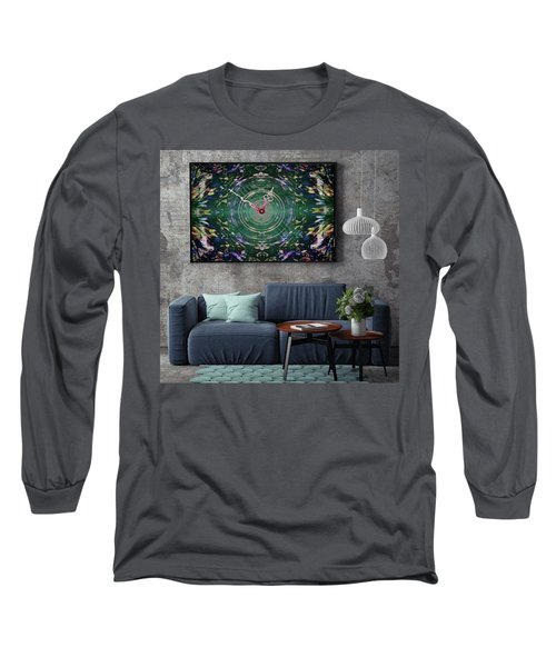 Abstract Cherry Blossom Long Sleeve T-Shirt