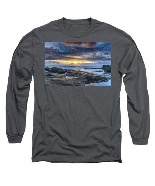 An Atmospheric Coastal Sunrise Long Sleeve T-Shirt