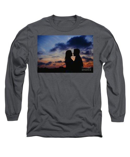 Couple With Cloud Sky Backlight Long Sleeve T-Shirt