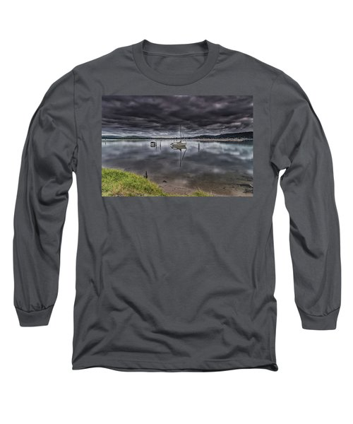 Early Morning Clouds And Reflections On The Bay Long Sleeve T-Shirt
