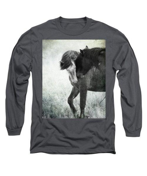 Long Sleeve T-Shirt featuring the photograph Intimacy Before Battle by Mary Hone