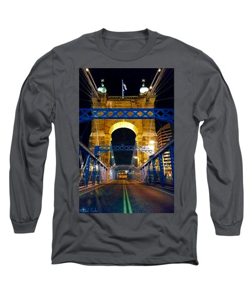 John A. Roebling Bridge Long Sleeve T-Shirt