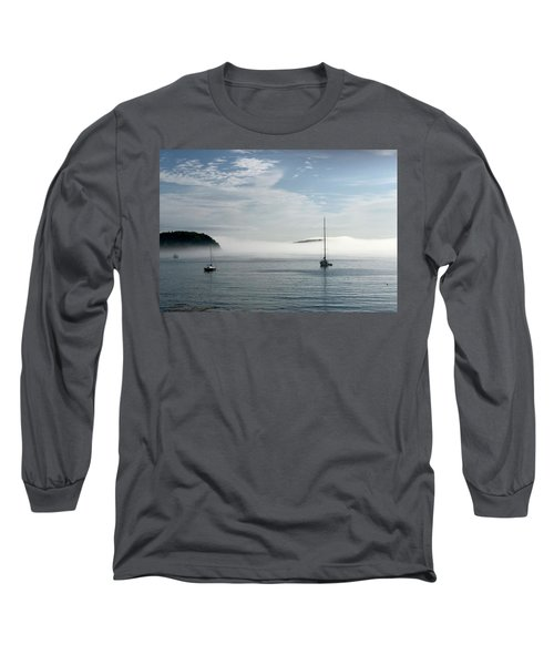 Morning Mist On Frenchman's Bay Long Sleeve T-Shirt
