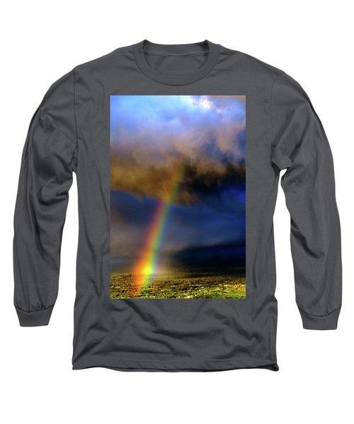 Rainbow During Sunset Long Sleeve T-Shirt