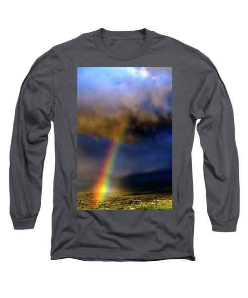 Rainbow During Sunset Long Sleeve T-Shirt