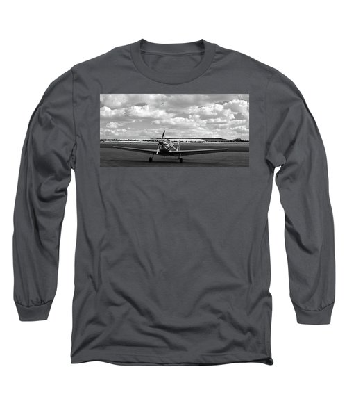 Silver Airplane Duxford England Long Sleeve T-Shirt