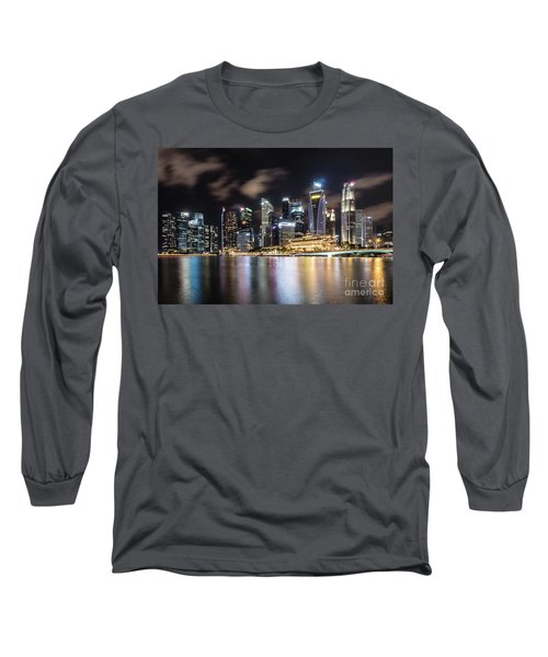 Singapore By Night Long Sleeve T-Shirt