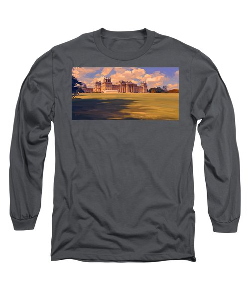 The White Party Tent Along Blenheim Palace Long Sleeve T-Shirt