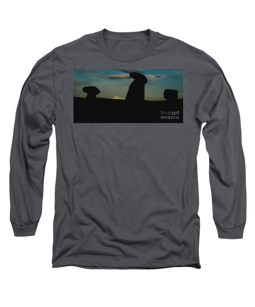 Turkish Landscapes With Snowy Mountains In The Background Long Sleeve T-Shirt