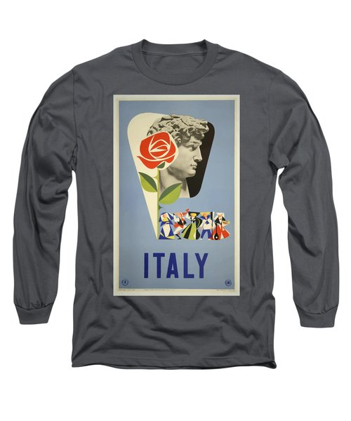 Vintage Travel Poster - Italy Long Sleeve T-Shirt