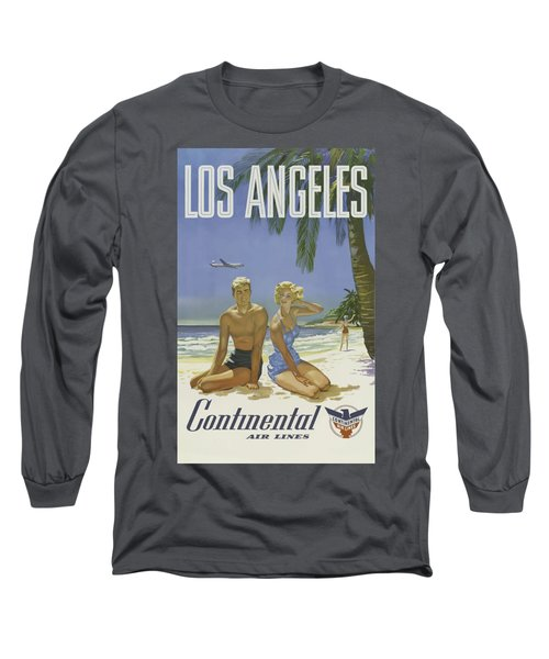Vintage Travel Poster - Los Angeles Long Sleeve T-Shirt