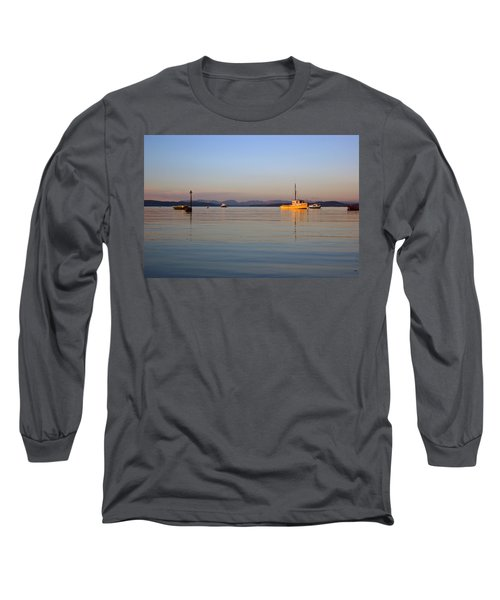 10/11/13 Morecambe. Fishing Boats Moored In The Bay. Long Sleeve T-Shirt