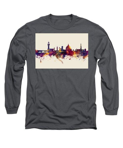 Florence Italy Skyline Long Sleeve T-Shirt