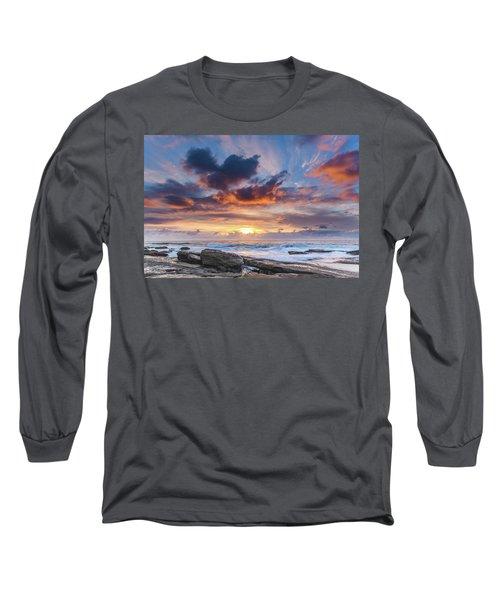 An Atmospheric Sunrise Seascape Long Sleeve T-Shirt
