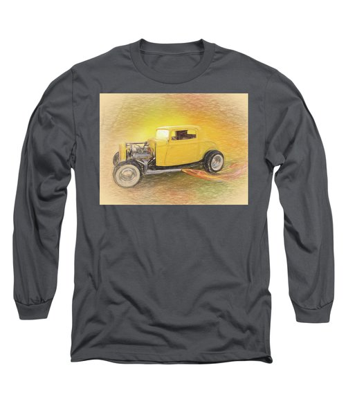 1932 Ford Coupe Yellow Long Sleeve T-Shirt