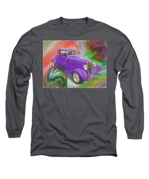 1934 Ford Colored Pencil Long Sleeve T-Shirt