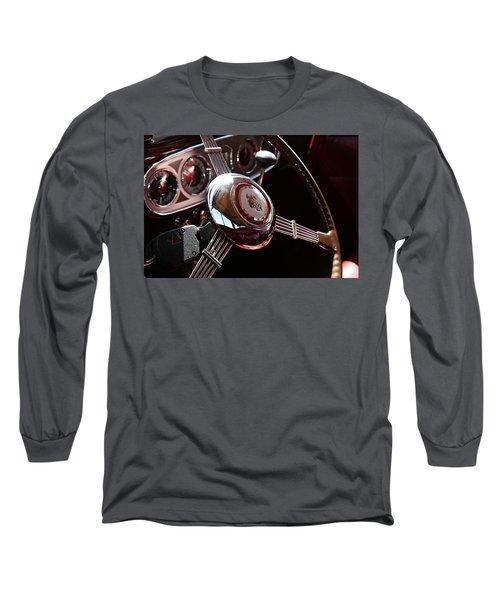 1937 Vintage Model 1508 Steering Wheel Long Sleeve T-Shirt