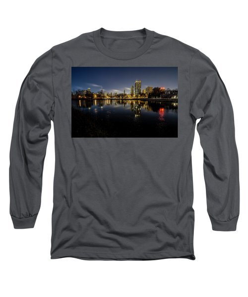 Chicago Skyline At Dawn  Long Sleeve T-Shirt