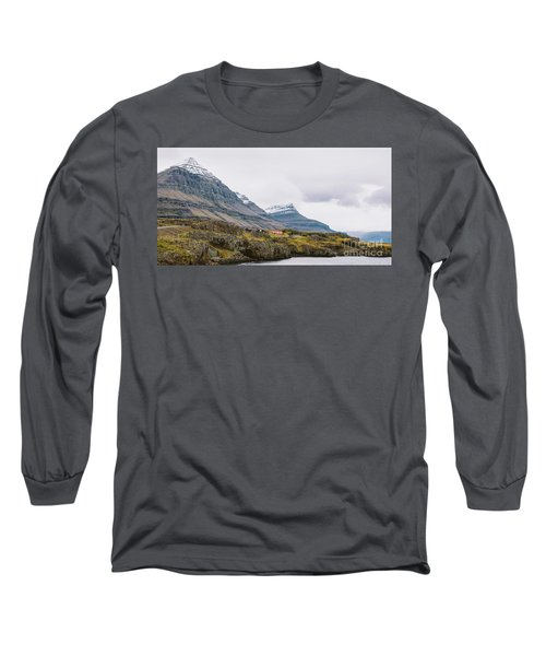 High Icelandic Or Scottish Mountain Landscape With High Peaks And Dramatic Colors Long Sleeve T-Shirt