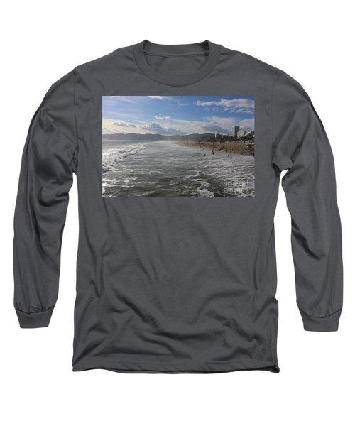 Santa Monica Beach, Santa Monica, California Long Sleeve T-Shirt