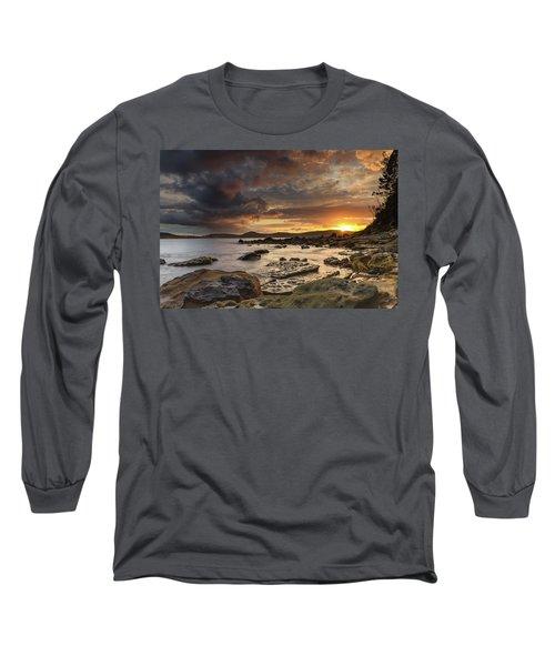 Stormy Sunrise Seascape Long Sleeve T-Shirt