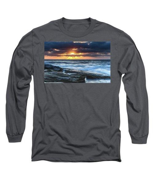 A Moody Sunrise Seascape Long Sleeve T-Shirt