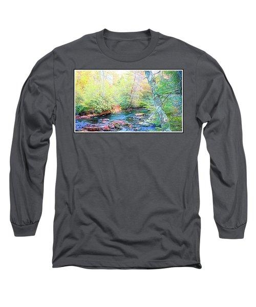Pocono Mountain Stream, Pennsylvania Long Sleeve T-Shirt