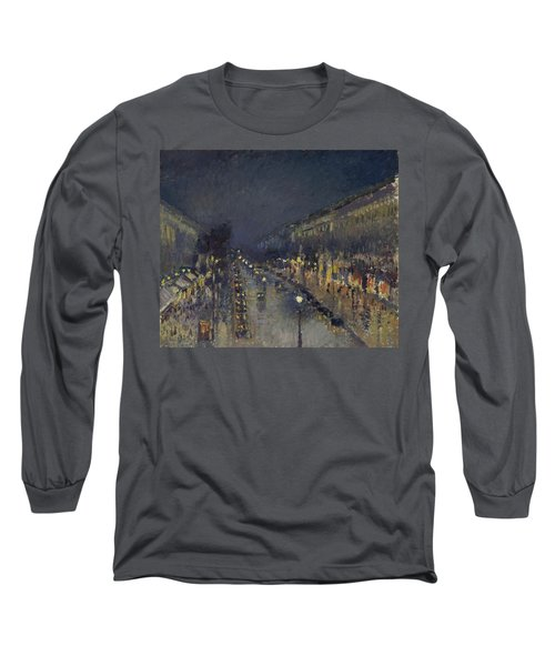 The Boulevard Montmartre At Night Long Sleeve T-Shirt