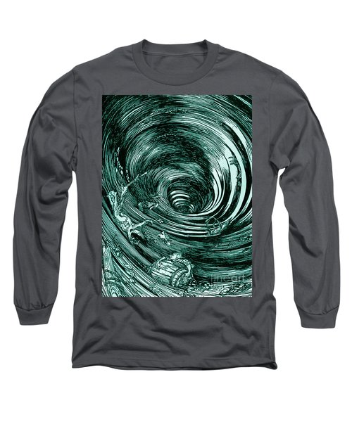 A Descent Into The Maelstrom By Edgar Allan Poe Illustration By Arthur Rackham Long Sleeve T-Shirt