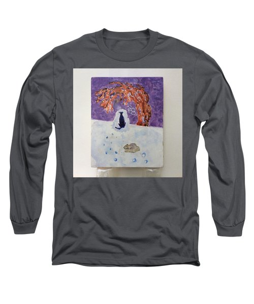 A Dog Named Novak At Home In Heaven Long Sleeve T-Shirt