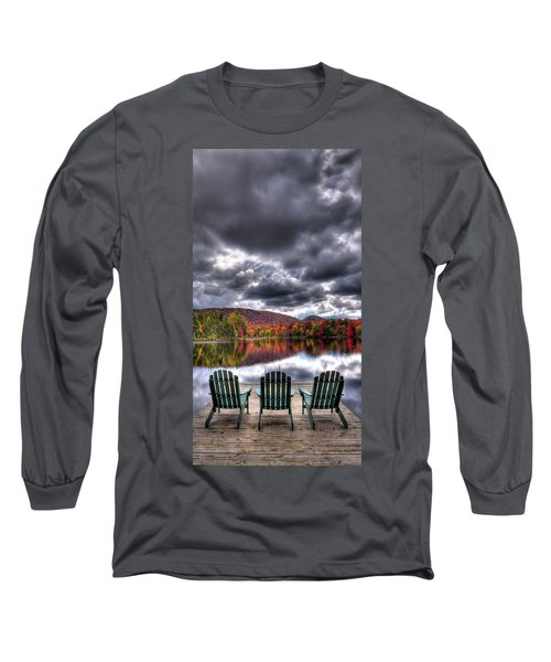 Long Sleeve T-Shirt featuring the photograph A Fall Day On West Lake by David Patterson