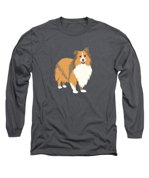 A Happy Home Has A Sheltie A Shetland Sheepdog Long Sleeve T-Shirt