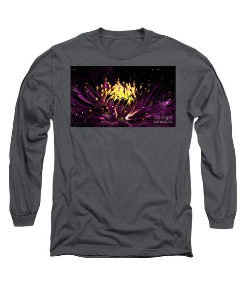 Abstract Digital Dahlia Floral Cosmos 891 Long Sleeve T-Shirt