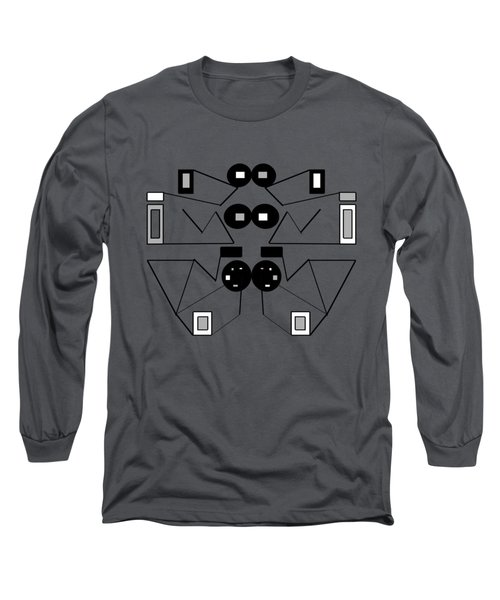 Abstract Geometric Retro 1 Long Sleeve T-Shirt
