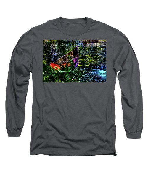 Long Sleeve T-Shirt featuring the photograph Adirondack Guide Boat by David Patterson