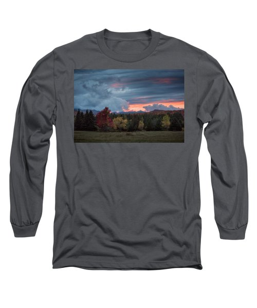 Adirondack Loj Road Sunset Long Sleeve T-Shirt