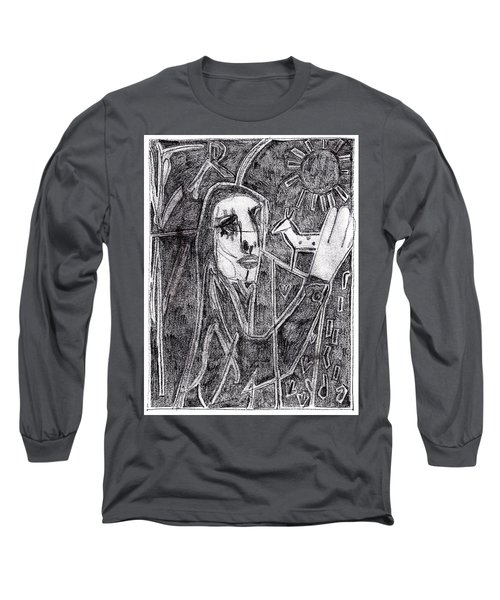 After Childish Edgeworth Pencil Drawing 10 Long Sleeve T-Shirt