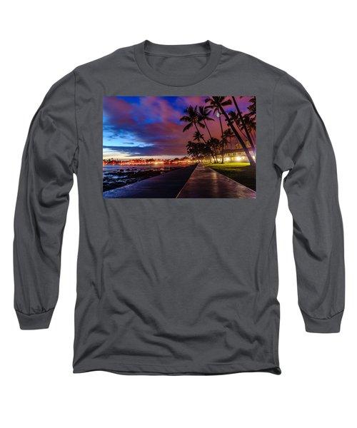 After Sunset At Kona Inn Long Sleeve T-Shirt