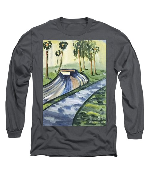Long Sleeve T-Shirt featuring the painting Afternoon In The Park by Maria Langgle