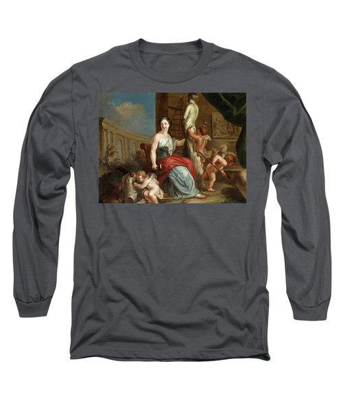 Allegory Of Sculpture And Architecture Long Sleeve T-Shirt