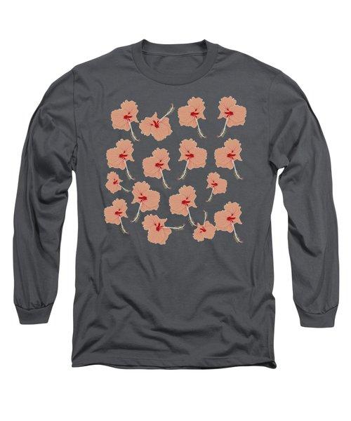 Aloha Hibiscus Flowers Long Sleeve T-Shirt