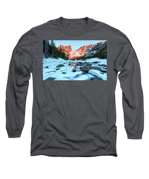 Alpenglow At Dream Lake Rocky Mountain National Park Long Sleeve T-Shirt