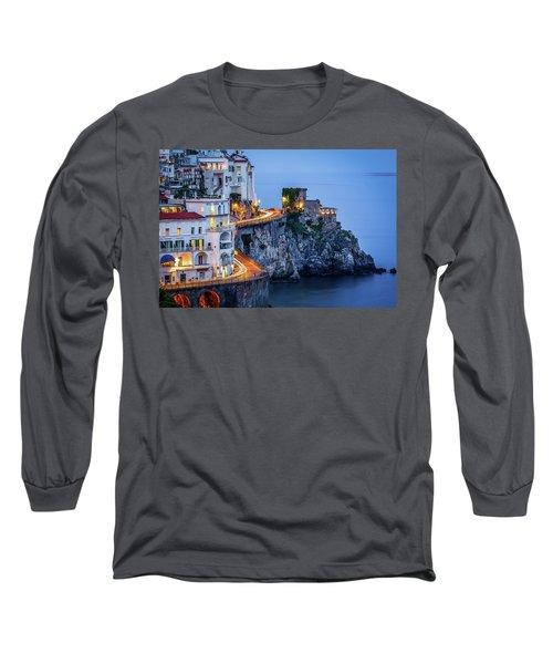 Amalfi Coast Italy Nightlife Long Sleeve T-Shirt