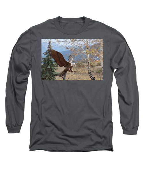 American Eagle In Autumn Long Sleeve T-Shirt