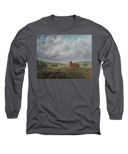 American Scene Red Barn  Long Sleeve T-Shirt