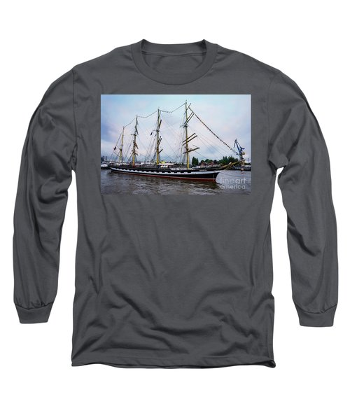 An Exit Sailboat Krusenstern On Parade Long Sleeve T-Shirt