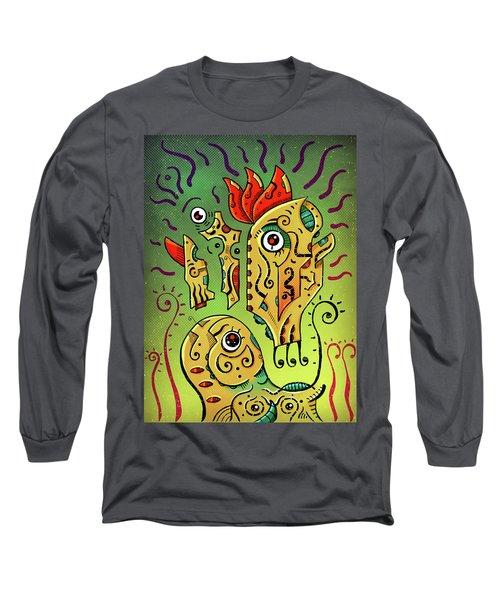 Long Sleeve T-Shirt featuring the digital art Ancient Spirit by Sotuland Art