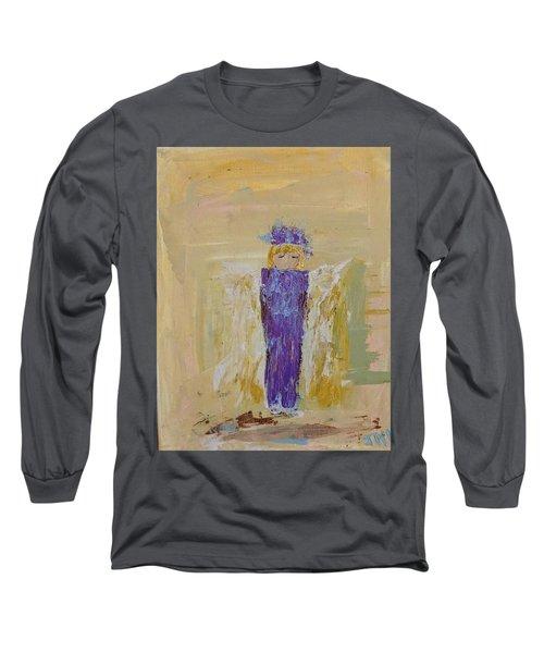 Angel Girl With A Unicorn Long Sleeve T-Shirt