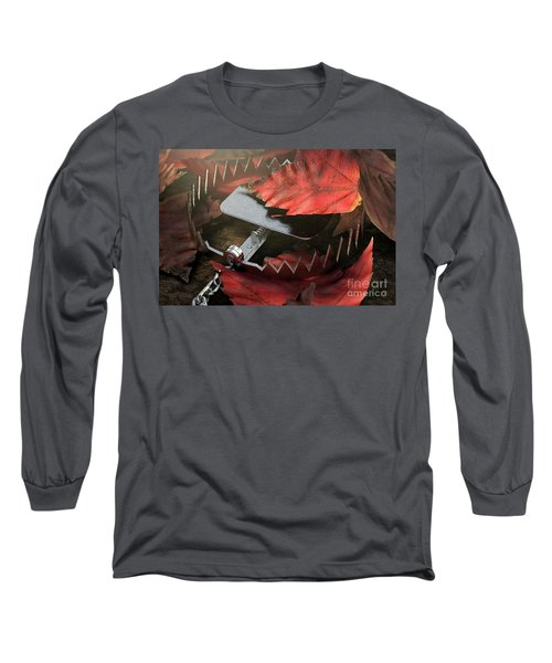 Animal Trap In Leaves Long Sleeve T-Shirt