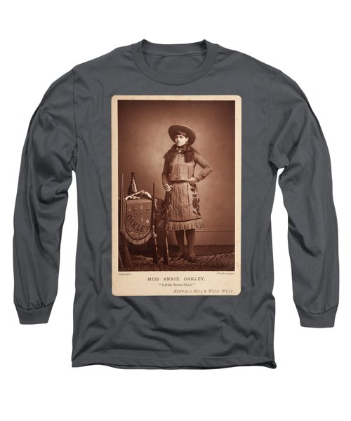 Annie-oakley-woodburytype-cabinet-card-c1890s Long Sleeve T-Shirt